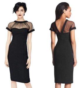 Новое платье чёрное приталенное трикотажное