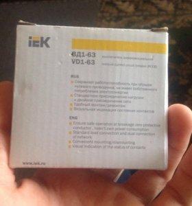 iEK выключатель дифференциальный ВД1-63
