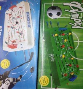 Новые настольные футбол и хоккей