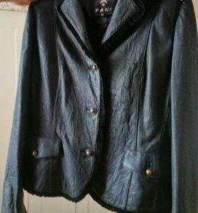 Куртка-пиджак женский нат. кожа