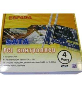SATA 4-port +raid bulk PCI-контроллер