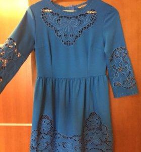 Платье синее р.42-44