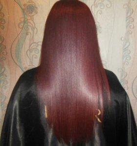 Кератиновое выпрямление/ Ботокс/ Полировка волос.