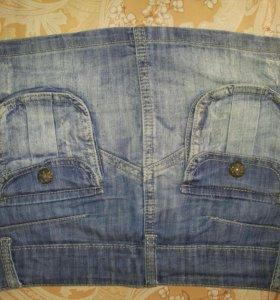 Юбочка джинсовая 42-44 р