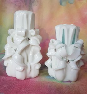 резные белые свечи