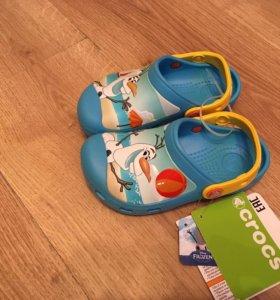 Новые Crocs (кроксы) для девочки 27/28 размер