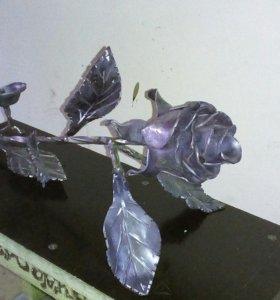 Роза подставка под свечу