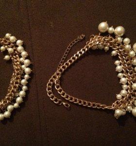 Браслет с ожерельем