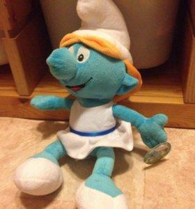 Смурфета - мягкая игрушка ( смурфик )