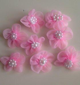 Цветочки с бусинами