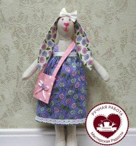 Тильда заяц кукла игрушка