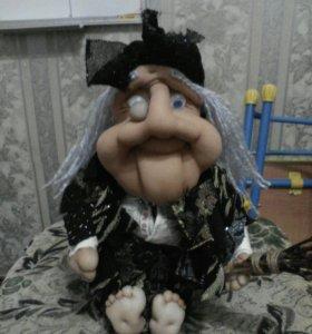 Куклы в чулочной технике - на удачу