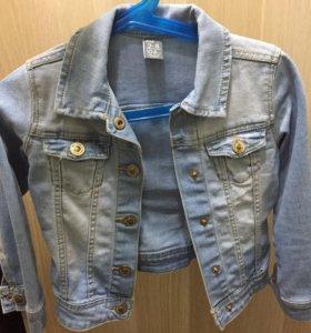Джинсовая куртка и джинсовый жилет