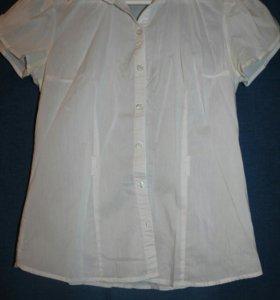 Блузка белая размер s