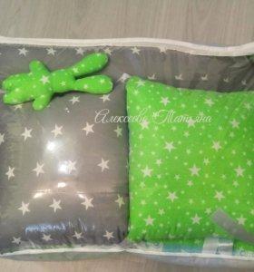 Бортики простыни на резинке наволочки подушки