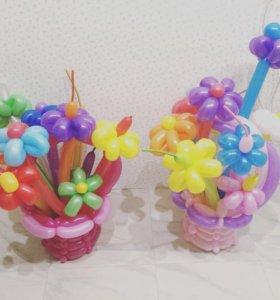 Букеты и корзины из воздушных шаров