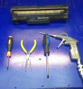 Заправка и ремонт картриджей, телефонов, компьютер