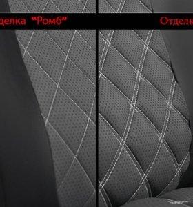 Авточехлы из экокожи ромб 3D для КИА Sportage