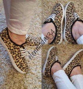 Кеды леопард