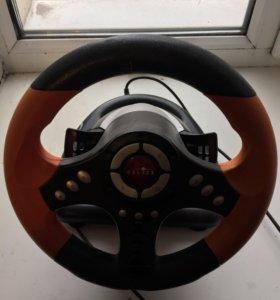 Игровой руль и педали для компьютера
