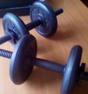 Гантели titan barbell 5.5 кг.