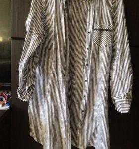 Рубашка женская удлинённая размер М