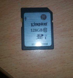 Флешка на фотоаппарат, 128гб