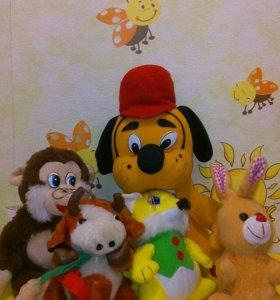 5 мягких игрушек