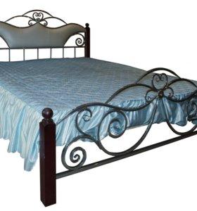 Кровать кованая новая