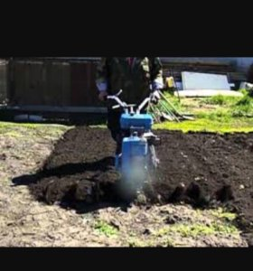 Вскопка огорода мотоблоком