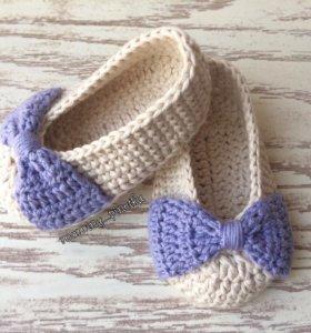 Вязанные туфельки ручная работа