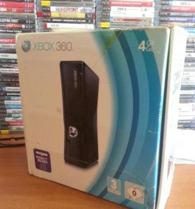 Xbox 360 4gb + лицензионные диски