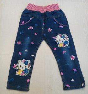 Новые джинсы 86 см.