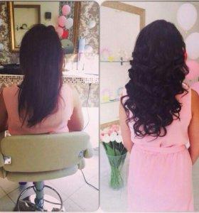 Продажа натуральных волос на заколках