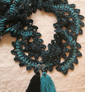 шарф ручная вязка
