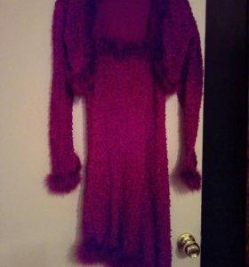 Вечернее платье на бретелях+болеро