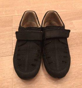 Ортопедические замшевые туфли