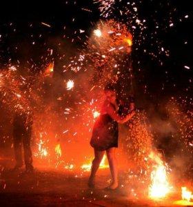Огненное шоу в Калининграде