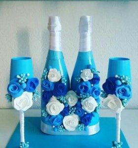 Комплект свадебного шампанского