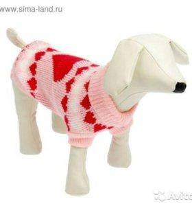 Новый свитер по спинке 20см