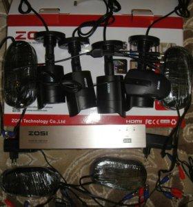 Комплект уличного видеонаблюдения на 4 камеры ZOSI