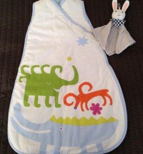 Новый спальный мешок Икея , зайка в подарок 😉