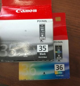 Новые картриджи для Canon 35, 36