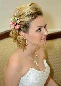 Украшение из цветов для свадебной прически