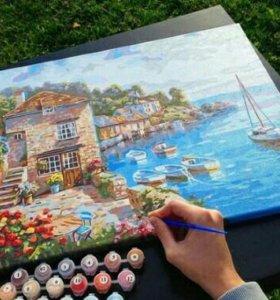 Картины-раскраски по номерам 40 на 50 см
