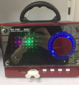 Портативная MP3 колонка МS-34 (новая)