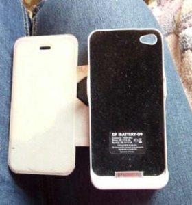 Зарядочный чехол для айфона 4,4s