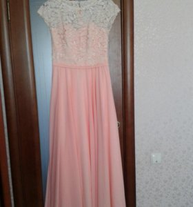 Платье из французского кружева и шифона
