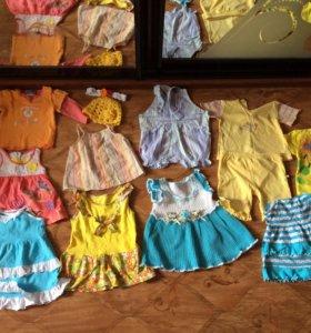 Пакет одежды для девочки  на лето 74 размер