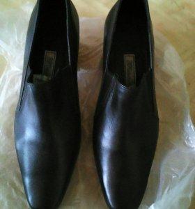 Туфли кожаные 39